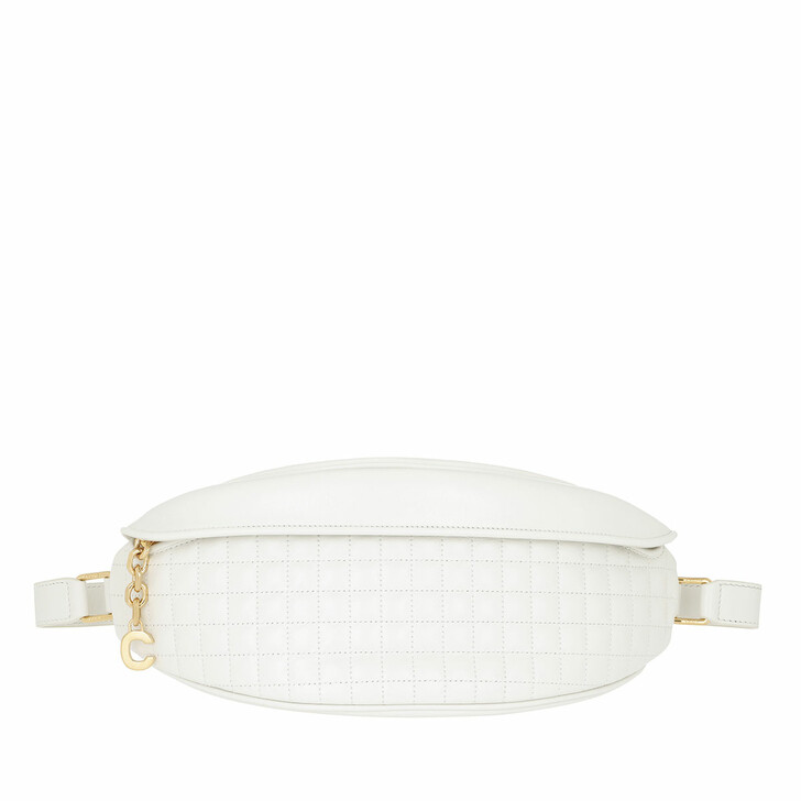 Gürteltasche, Celine, C Charm Belt Bag Quilted Leather White