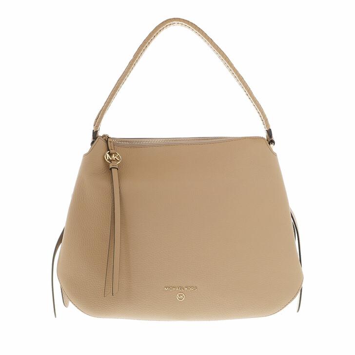 Handtasche, MICHAEL Michael Kors, Large Hobo Shoulder Tote  Leather Camel