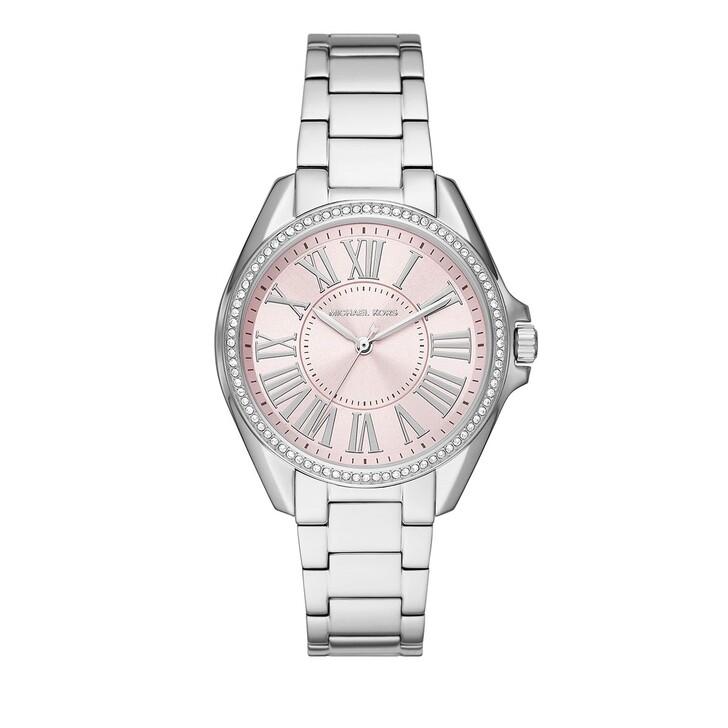 watches, Michael Kors, Women Kacie Three-Hand Stainless Steel Watch Silver