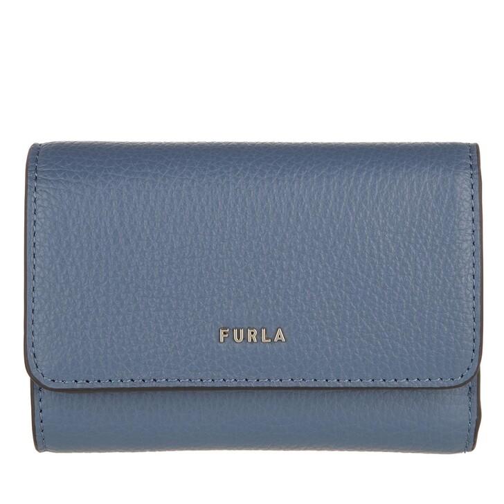 wallets, Furla, Furla Babylon S Compact Wallet Blu Denim