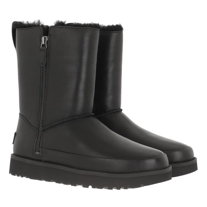 Schuh, UGG, Classic Zip Short Boot Black