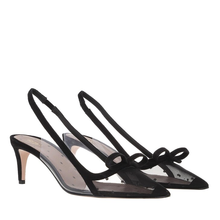 Schuh, Red Valentino, Pump H.60 Black/Transparent