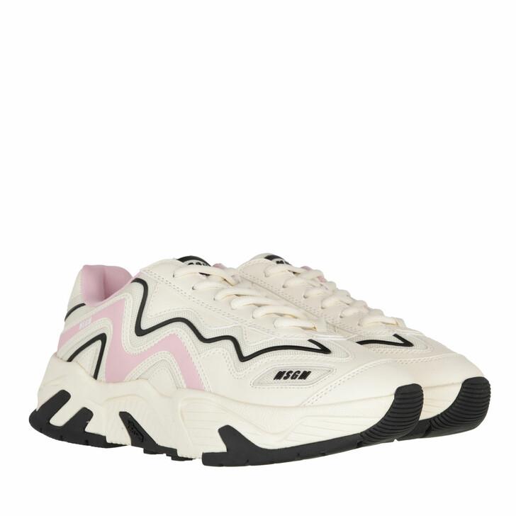 shoes, MSGM, Scarpa Donna Bone Pink Black