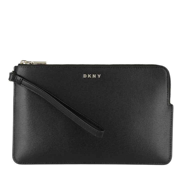 Handtasche, DKNY, Bryant Wristlet Pouchette Black Gold