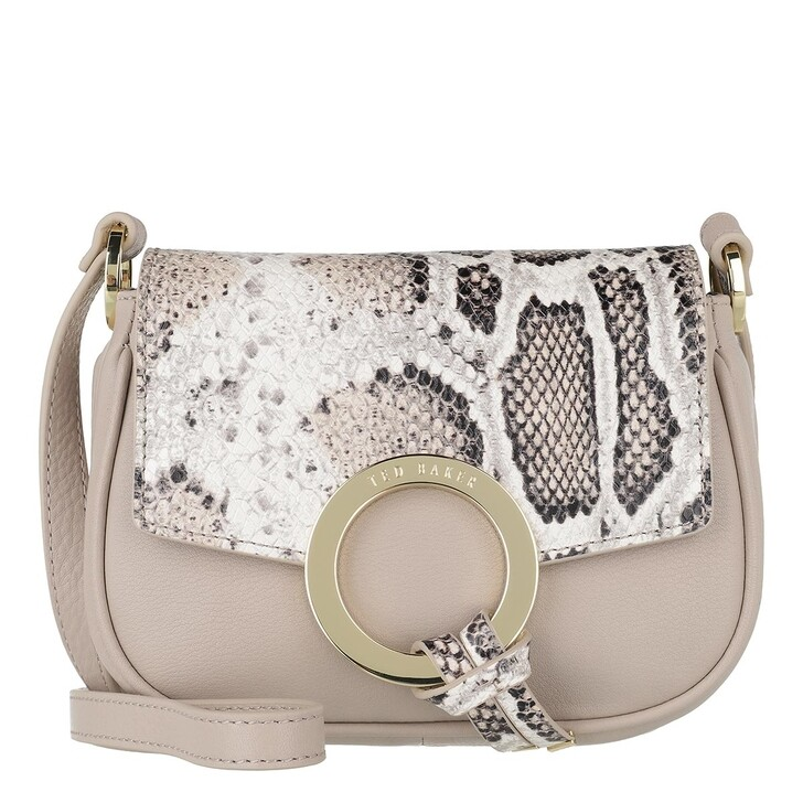 Handtasche, Ted Baker, Trineo Ring Imitation Snake Mini Crossbody Natural