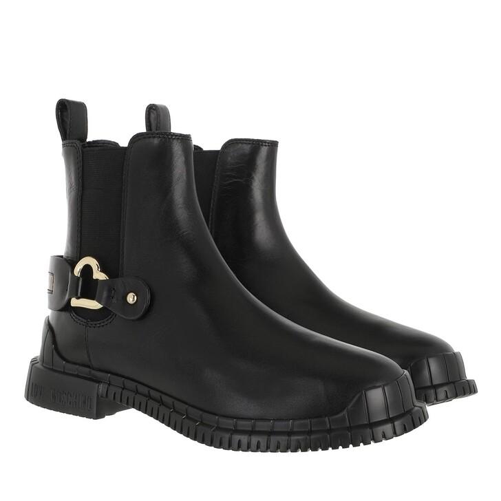 shoes, Love Moschino, Sca Nod Gommar30 Vitello  Nero