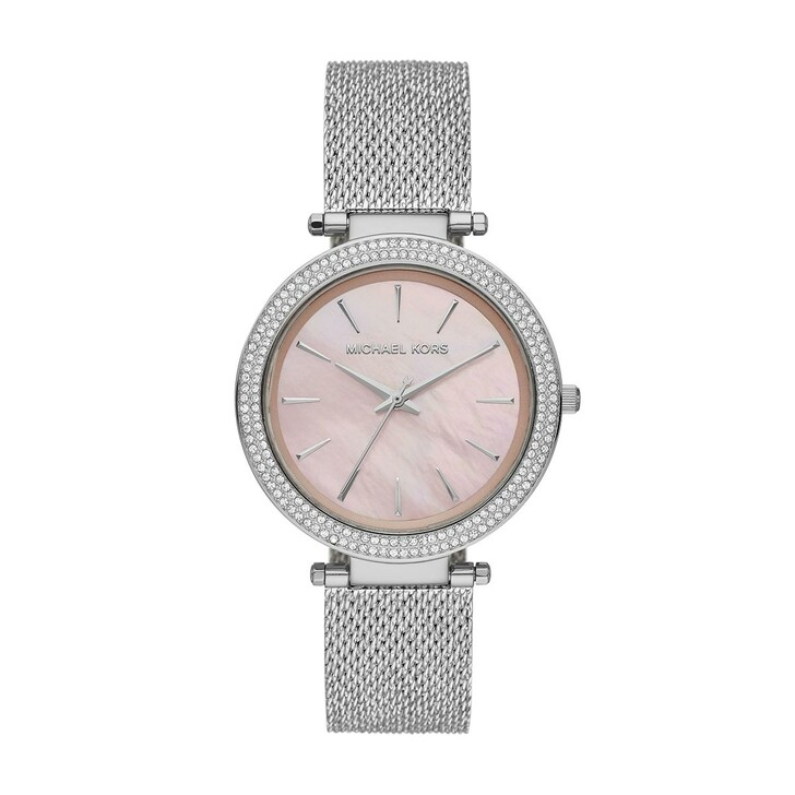 watches, Michael Kors, Darci Leather Watch Silver