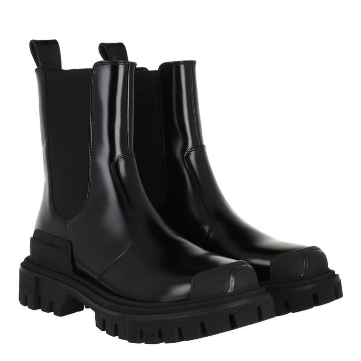 Schuh, Dolce&Gabbana, Biker Boots Black