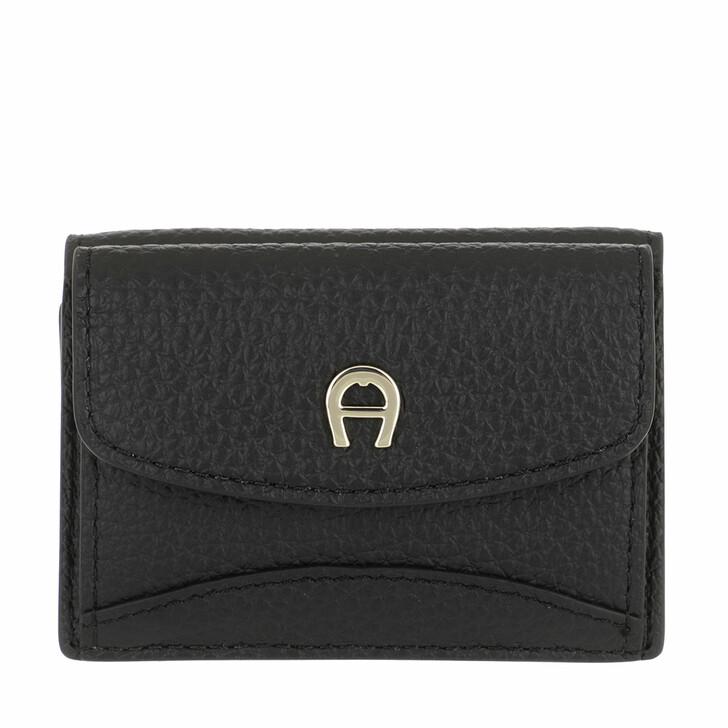 wallets, AIGNER, Selma Wallet Black