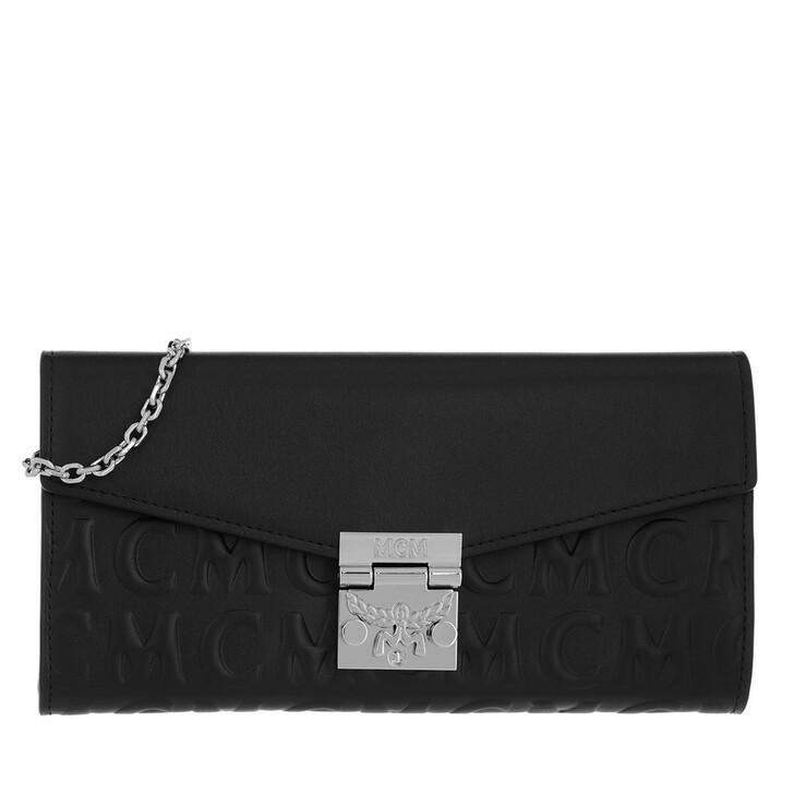 Geldbörse, MCM, Large Patricia Wallet Leather Black