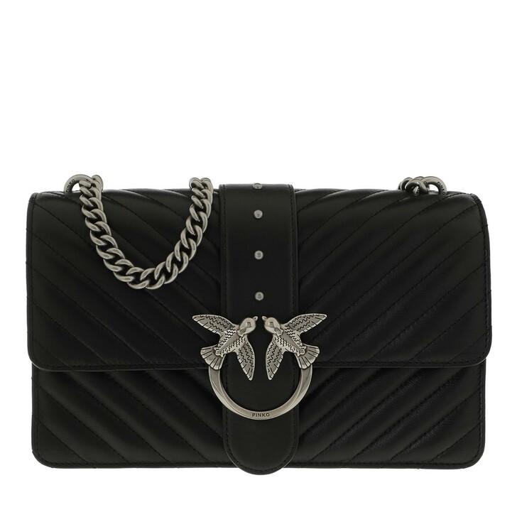 Handtasche, Pinko, Love Classic Icon V Quilt 2 Crossbody Black