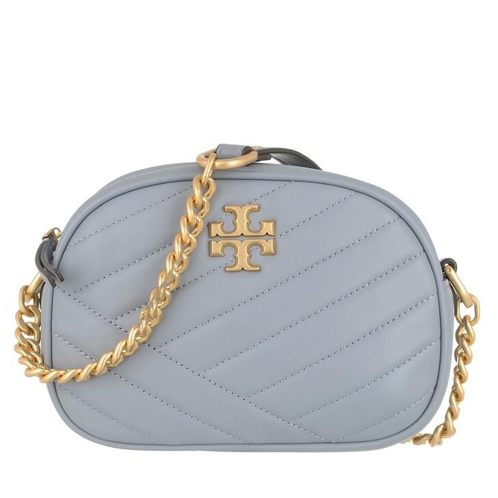 Handtasche, Tory Burch, Kira Chevron Small Camera Bag Cloud Blue / Rolled Brass