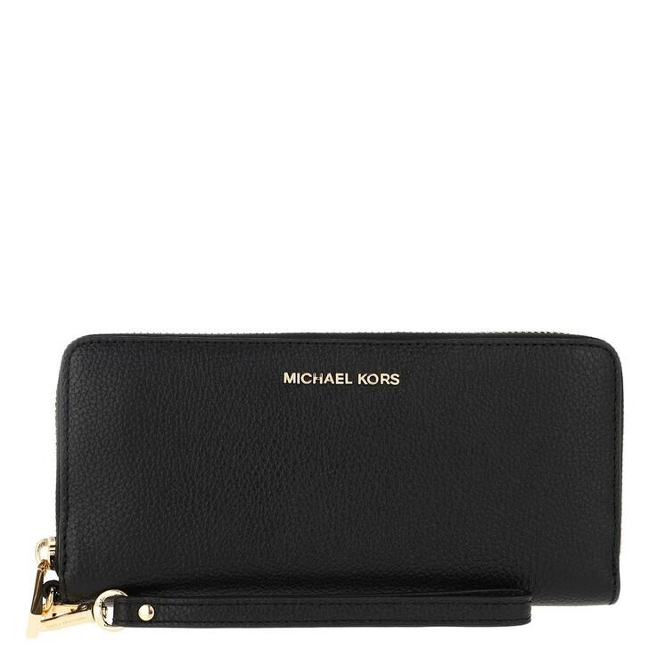 wallets, MICHAEL Michael Kors, Jet Set Travel Continental Black
