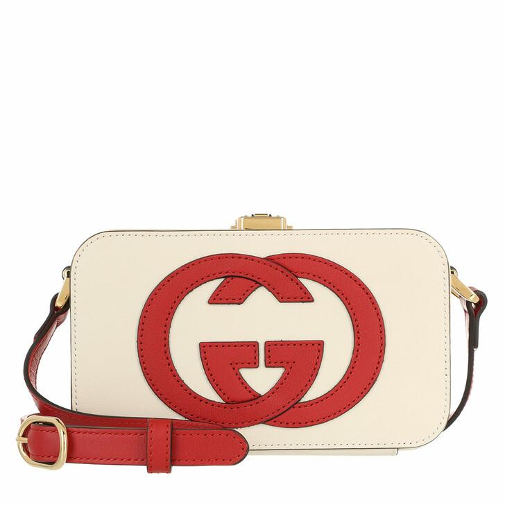 bags, Gucci, Mini GG Crossbody Bag Leather Mystic White