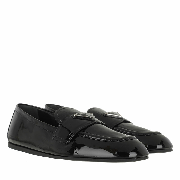 Schuh, Prada, Loafers Patent Leather Black