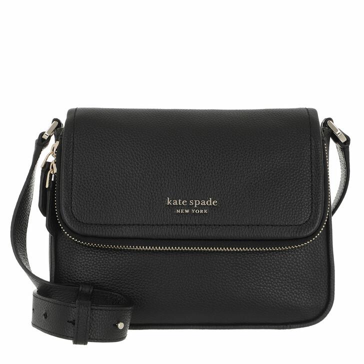 Handtasche, Kate Spade New York, Run Around Large Flap Crossbody  Black