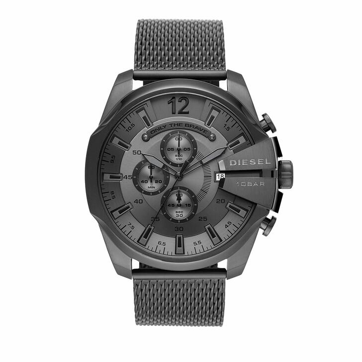 Uhr, Diesel, Mega Chief Chronograph Stainless Steel Watch Grey/Gunmetal