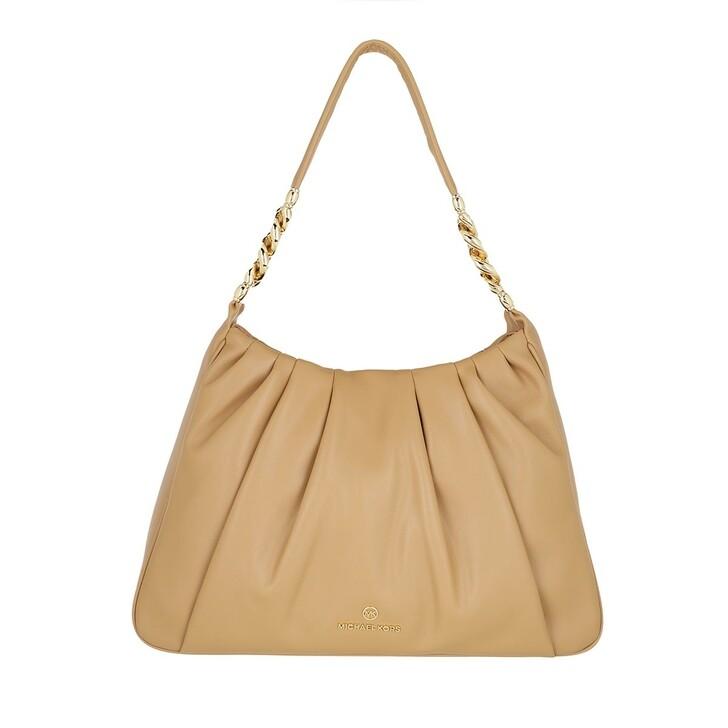Handtasche, MICHAEL Michael Kors, Hannah Medium Shoulder Camel