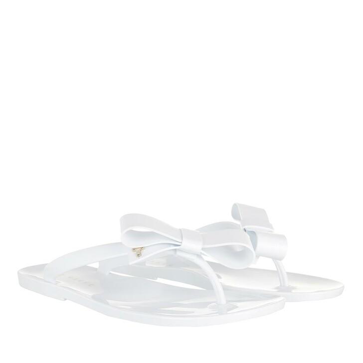 Schuh, Ted Baker, Bejouw Bow Detail Jelly Flip Flops White