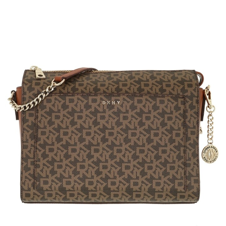 Handtasche, DKNY, Bryant Medium Box Crossbody Mocha Caramel