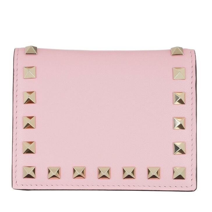 Geldbörse, Valentino Garavani, Small Continental Wallet Leather Rose Quartz
