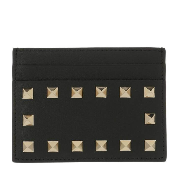 Geldbörse, Valentino Garavani, Card Holder Leather Black