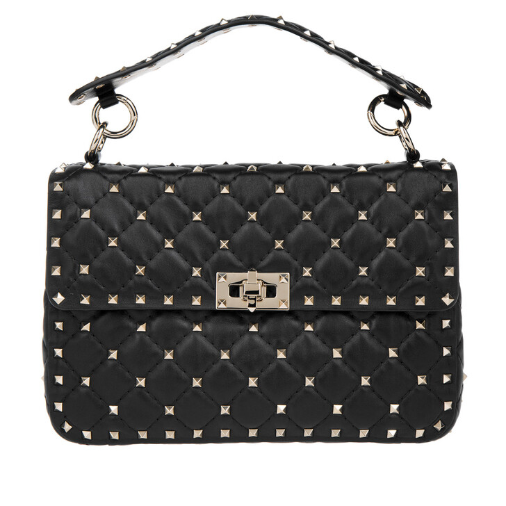 Handtasche, Valentino Garavani, Rockstud Spike Crossbody Bag Medium Nero