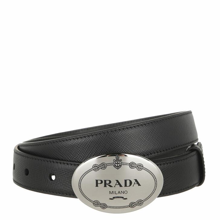 Gürtel, Prada, Saffiano Belt Black