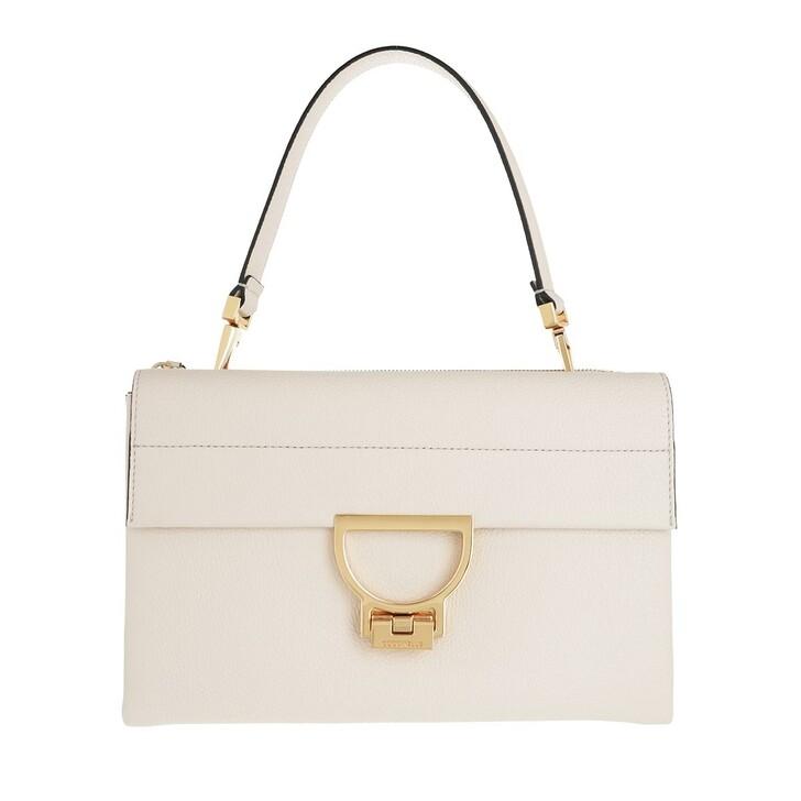 bags, Coccinelle, Arlettis Satchel Bag Lambskin White