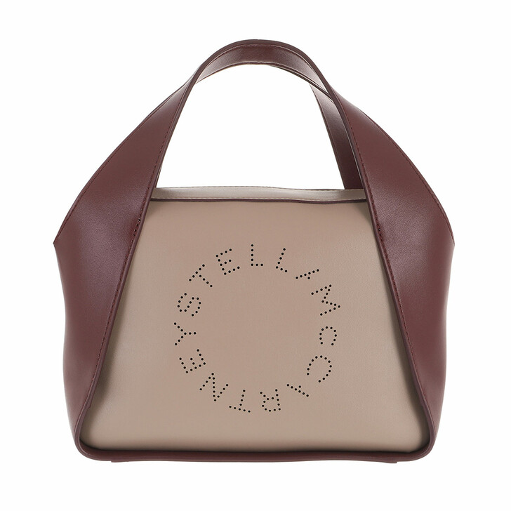 bags, Stella McCartney, Medium Logo Tote Bag Moss Wine