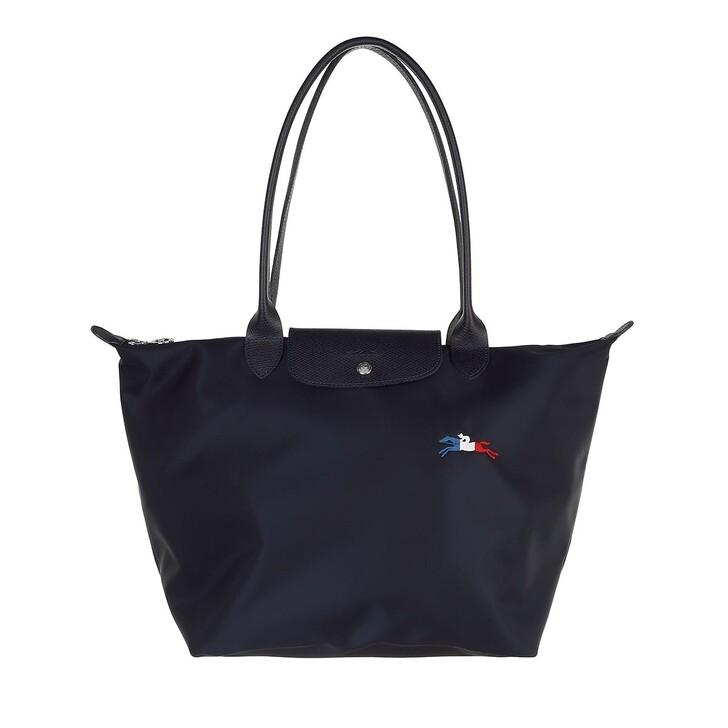 bags, Longchamp, Le Pliage Très Paris Shoulder Bag  Marine