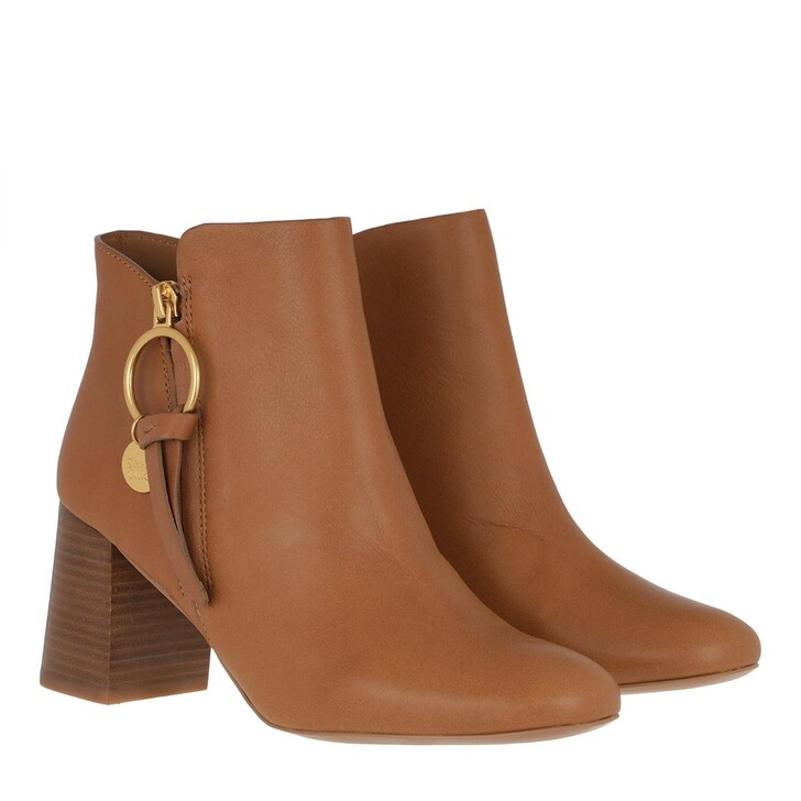 Schuh, See By Chloé, Bootie Leather Cognac