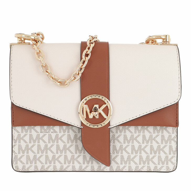 Handtasche, MICHAEL Michael Kors, Greenwich Crossbody Handbag Vanilla/Acorn