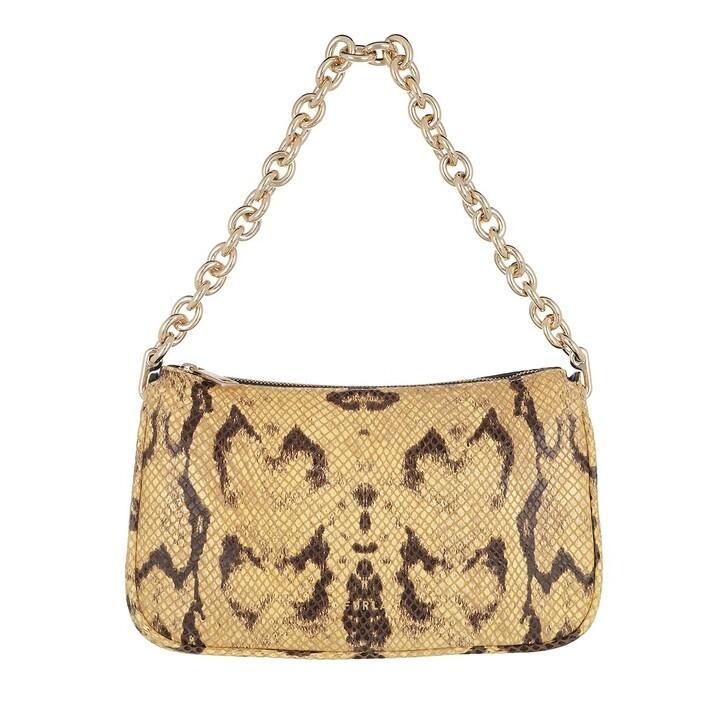 Handtasche, Furla, Furla Moon S Shoulder Bag - Vitello St.Pitone Diam Toni Mimosa