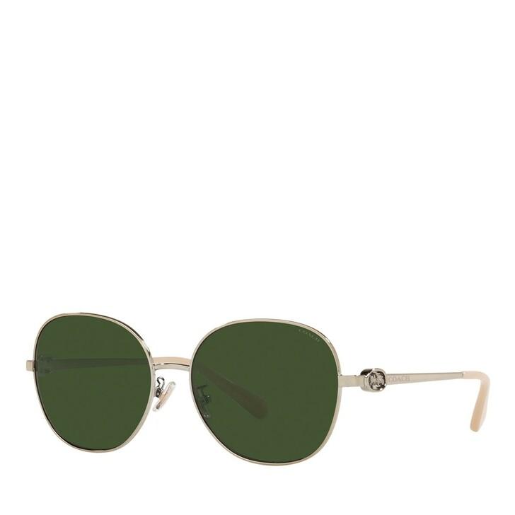 Sonnenbrille, Coach, 0HC7123 Light Gold/Green