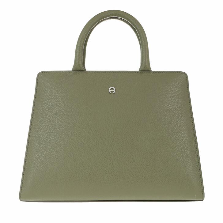 bags, AIGNER, Handle Bag Moss Green