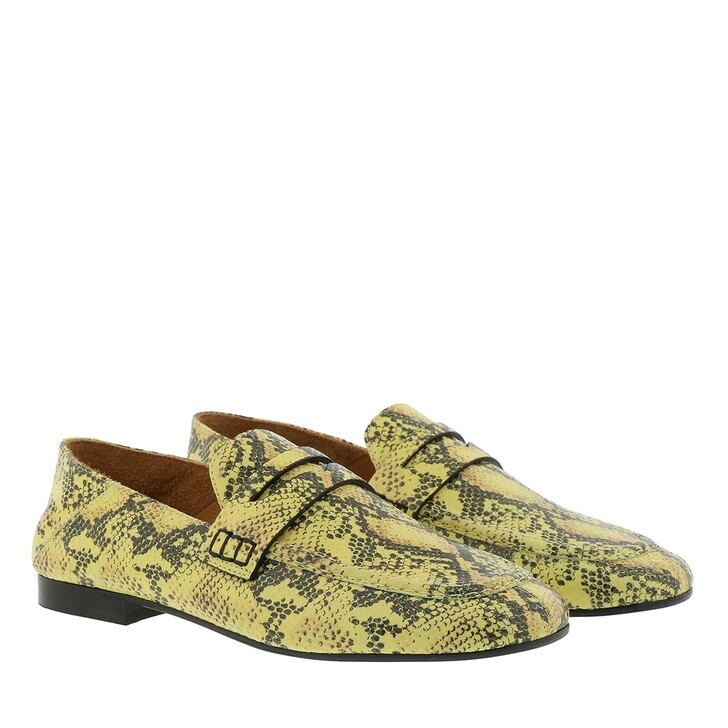 Schuh, Isabel Marant, Feezy Animal Print Loafer Leather Yellow