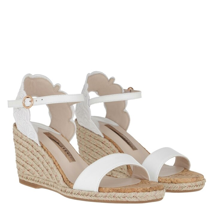 Schuh, Sophia Webster, Cassia Mid Espadrille White