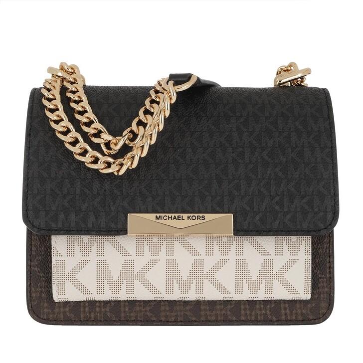 bags, MICHAEL Michael Kors, Jade XS Gusset Crossbody Bag Brown Multi
