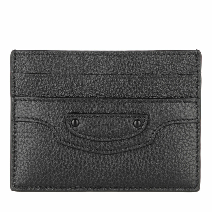 Geldbörse, Balenciaga, Neo Classic Card Holder Leather Black