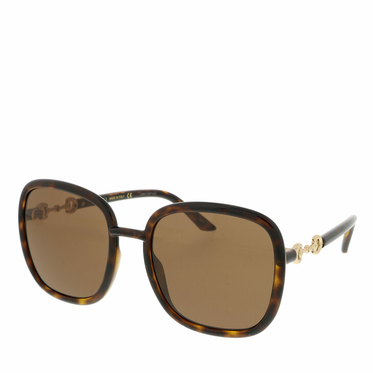 Sonnenbrille, Gucci, GG0893S-002 57 Sunglass WOMAN INJECTION HAVANA
