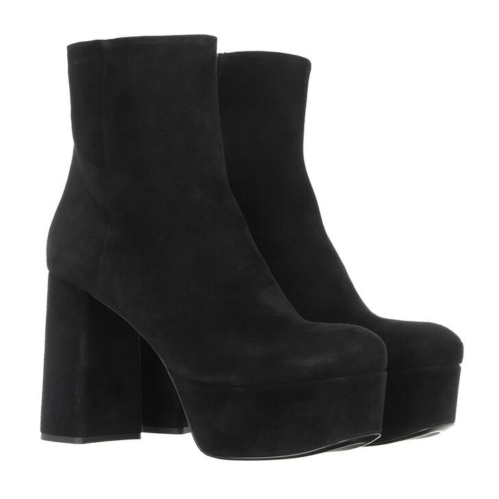 shoes, Prada, High Boot Camoscio Black