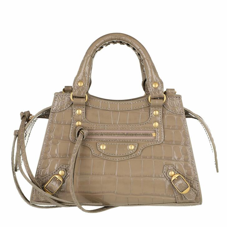 Handtasche, Balenciaga, Neo Classic Mini Top Handle Bag Leather Mink