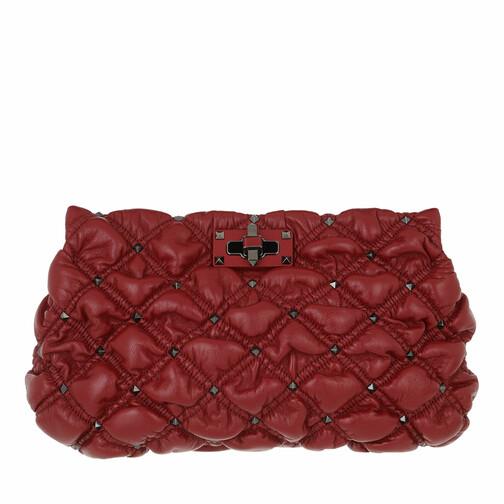valentino garavani -  Clutches - Spike Me Clutch Nappa Leather - in rot - für Damen