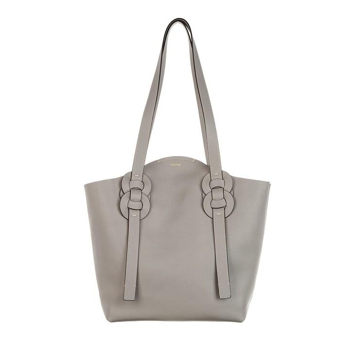 bags, Chloé, Medium Darryl Shopper Calfskin Stormy Grey