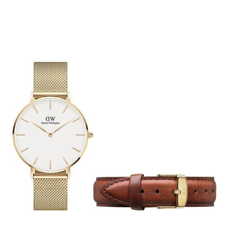 Uhr, Daniel Wellington, Evergold 36mm + St.Mawes Strap Yellow Gold