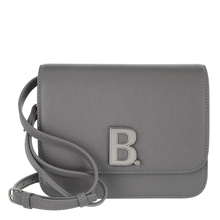Handtasche, Balenciaga, Small B. Crossbody Bag Leather Dark Grey