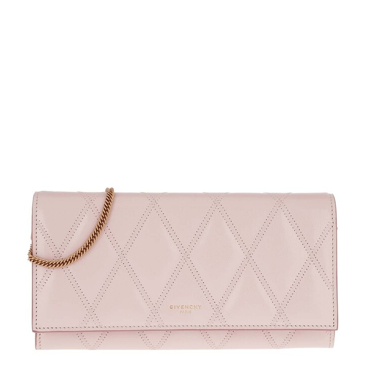 Handtasche, Givenchy, GV3 Wallet On Chain Leather Pale Pink