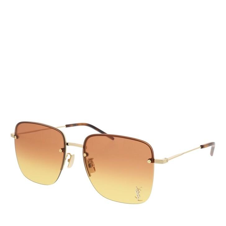 sunglasses, Saint Laurent, SL 312 M-004 58 Sunglass WOMAN METAL GOLD
