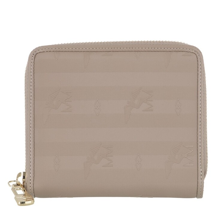 wallets, Maison Mollerus, Wallet Taupe Gold